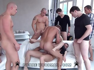 Youthfull Russian Wanton Gets Group-Fucked By Eight Uninhibited Pervs