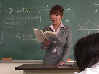 Lecturer helps a well-draped schoolgirl to bupkis focus on along to lesson
