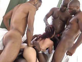 several BIG BLACK COCK Tear Her Bum Dana Santo