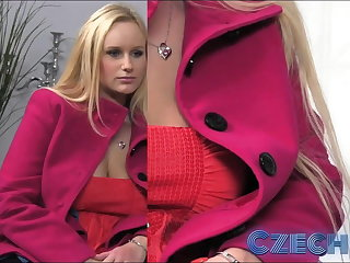 Czech Honcho Blonde gets sprayed with spunk in Casting