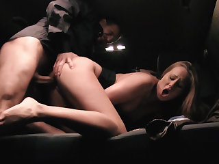 Hungarian babe fucked down a cab