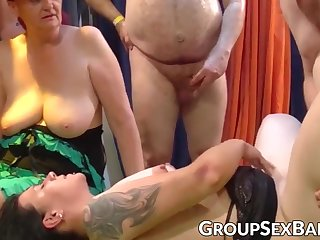 Mature sluts kinky group sex