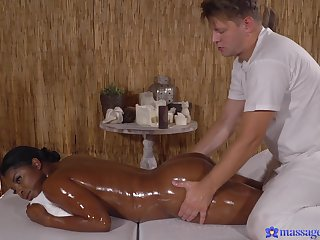Chunky black chick wants about try interracal sex with a masseur