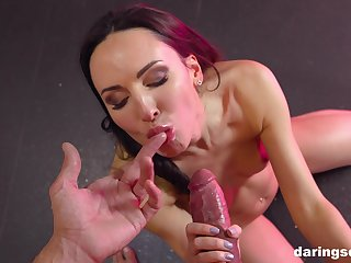 Latina babe Lilu Moon swallows every drop be required of a juicy sticky load