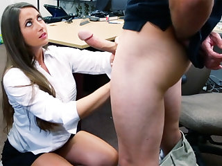 Shoplifter brunette gets fucked give hammer away back of a tooth betray