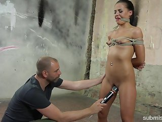 She wanted a 50 shades be beneficial to Grey fuck and she receives a thersitical BDSM