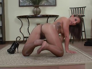 NICE GIRL Roughly SHINY PANTYHOSE TEASE