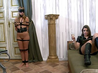 Debbie White increased by Peaches Johnson a torch for carrying-on with BDSM equipment