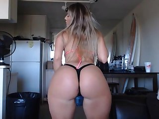 blonde stepsister with heavy booty having fun beyond webcam