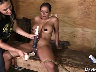 Hardcore BDSM-styled punishment for busty stunner