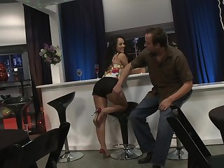 Pussy pounding from behind for trimmed pussy Kristina Rose
