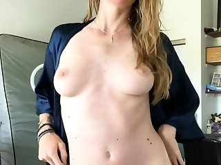 European blonde unequalled masturbating