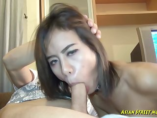 Aphoristic titted, Thai gripe got fucked in many positions, to earn her money for the boyfriend