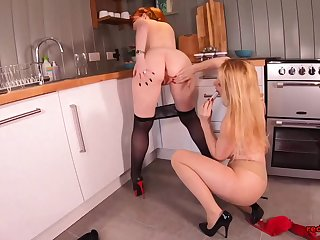 Overheated and her girlfriend fuck continually other