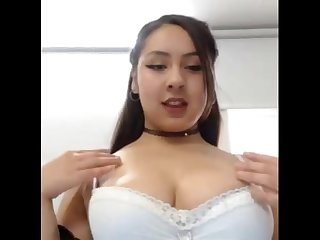 Horny mollycoddle fucking and playing her pussy on cam.