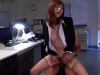 Fucking in slay rub elbows close by office close by small tits Japanese chick MIYABI