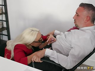 Best inches for the thirsty secretary stub a wild blowjob
